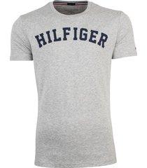 tommy hilfiger icon t-shirt grijs met logo