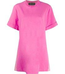 mr & mrs italy mini dress with plisse