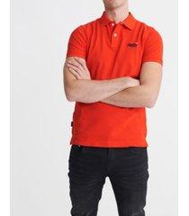 superdry classic pique short sleeve men's polo shirt