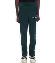 palm angels pants in green polyester