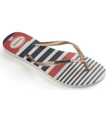 sandalias  havaianas slim nautical fc 4137125 femenino