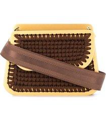 0711 monaco clutch bag - brown