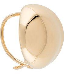 bottega veneta oval shape cuff bracelet - gold