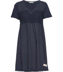 finest embroidery dress knälång klänning blå odd molly