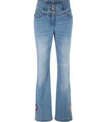 jeans a zampa stampati (blu) - bpc bonprix collection