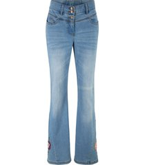jeans a zampa stampati (blu) - bpc bonprix collection