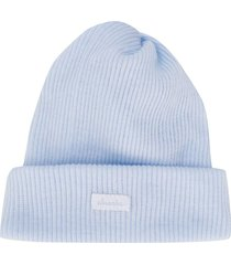 absorba ribbed knit beanie hat - blue