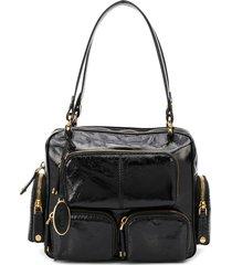 tod's multi-pocket leather handbag - black
