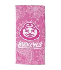 "northwest company ohio state buckeyes 30x60 ""pink passion"" beach towel"