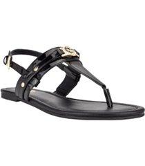 gbg los angeles women's leedia thong flat sandals women's shoes