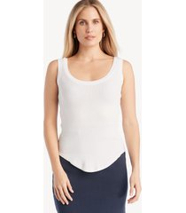 la made women's you rib tank in color: white top size xs from sole society