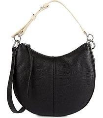 aisha leather shoulder bag