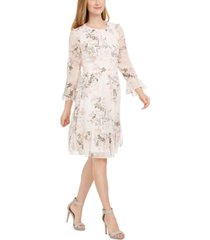 calvin klein petite floral-print ruffle dress