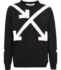 off-white twisted arrows knit sweatshirt