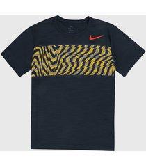 camiseta azul-multicolor nike superset