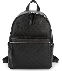 marin embossed faux leather backpack