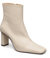 joan le carré ankle boot shoes boots ankle boots ankle boot - heel creme anny nord