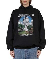 balenciaga black sacre coeur sport hoodie