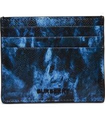 ripple print leather card case
