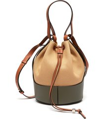 'balloon' small canvas leather shoulder bag