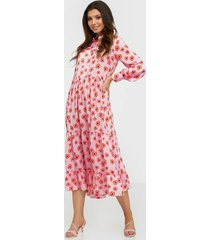 glamorous long sleeve flower maxi d loose fit dresses