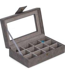 bey-berk cufflink storage case - grey