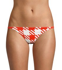 the morgan gingham bikini bottoms
