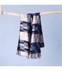 lenço barcelona cor: azul - tamanho: único