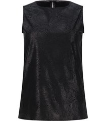 blusa satinada color negro, talla 10