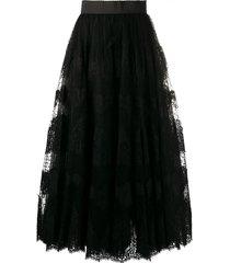 dolce & gabbana lace full skirt - black