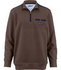 sweatshirt men plus taupe::marine