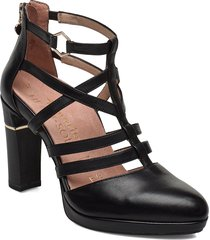 woms slip-on shoes heels pumps classic svart tamaris heart & sole