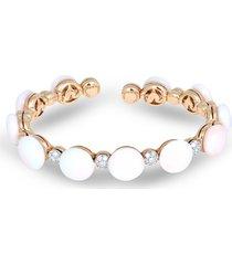 chantecler 18kt rose gold bon bon diamond and coral bracelet - pink