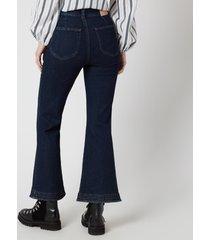 see by chloé women's kickflare jeans - denim blue - w28