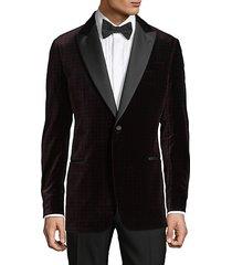 evening polka-dot cotton-blend jacket