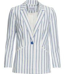 blazer in misto lino (bianco) - bodyflirt