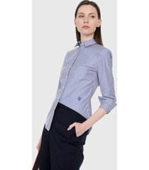 camisa azul-blanco-rojo tommy hilfiger