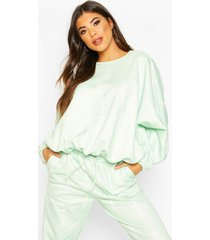 woman oversized sweatshirt, sage