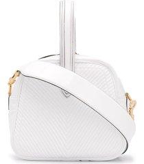 marco de vincenzo chevron stitch vinyl mini bag - white