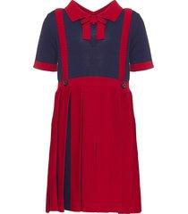 gucci plain pleats dress