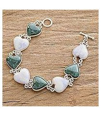jade heart bracelet, 'soul mates' (guatemala)