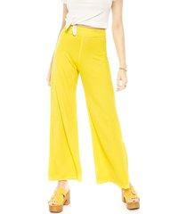 pantalón pippa retro amarillo - calce holgado