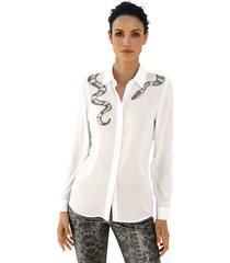 blouse amy vermont wit::grijs