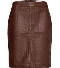 sc-gunilla knälång kjol brun soyaconcept