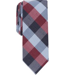 bar iii men's collegiate skinny plaid tie, created for macy's