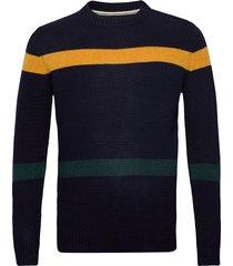 akfebas knit gebreide trui met ronde kraag blauw anerkjendt