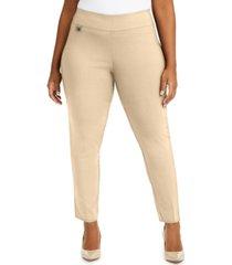 alfani plus size tummy-control pull-on skinny pants, created for macy's