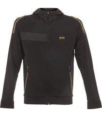 boss green black & yellow saggytech hoodie 50369666