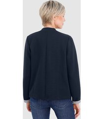 elegant jacka i sweatshirtmaterial dress in marinblå