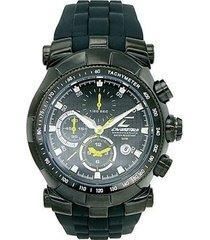 relógio de pulso chronotech active - aço preto